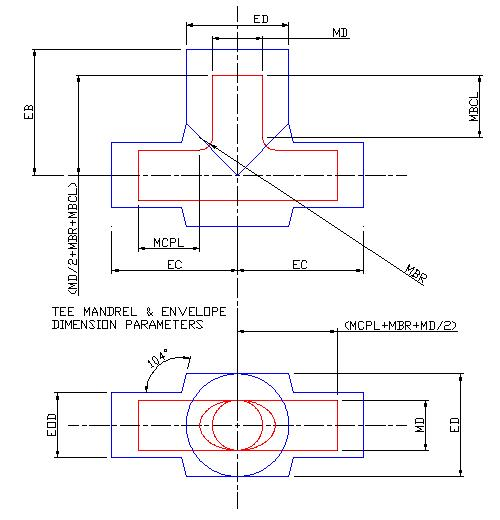 Parameter Diagram Cadfil Tee mandrel